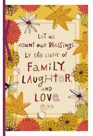 family and laughter thanksgiving card greeting cards