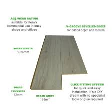 White Laminate Wood Flooring Rip Oak White 12mm Commercial Grade Laminate Flooring