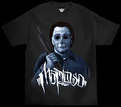 authentic mafioso clothing halloween michael myers horror tattoo t