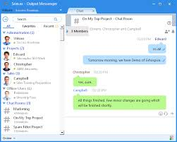 Chat Room by Output Messenger Chat Room Chats Srimax Softwares
