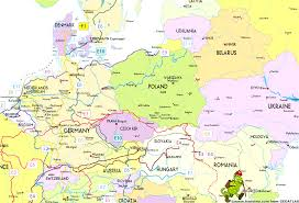 Map Of Budapest Map Of Europe Showing Belgium European Trails Prepossessing Map