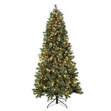 7 5 faux evergreen tree with white lights reviews