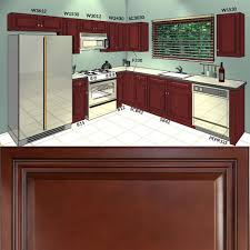 Material For Kitchen Cabinet Lesscare Cherryville 10x10 Kitchen Cabinets Group Sale