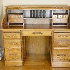 eagle industries oak rolltop desk ebth