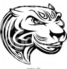 jeep batman logo royalty free vector of a black and white tribal tiger face logo by