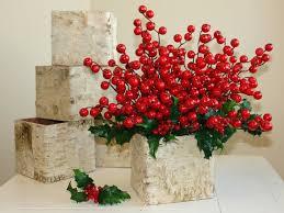 Christmas Centerpiece Images - christmas centerpiece birch bark vases wood boxes square wedding