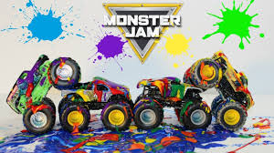 monster truck jam videos for kids learning colors for children kids toddlers with monster jam