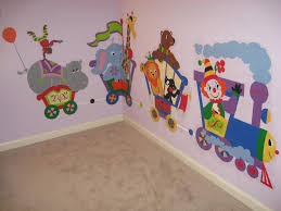 hippo monkey circus car paint by number wall mural elephants hippo monkey circus car paint by number wall mural
