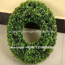 artificial boxwood wreath q120937 wreath supplies wholesale artificial grass topiary cheap
