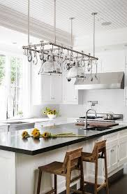 Kitchen Island With Hanging Pot Rack Creative Ways To Use Hanging Storage In Your Kitchen Hanging