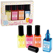 spotty nail varnish highlighters dotcomgiftshop