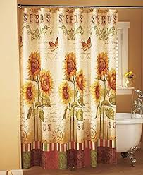 Birdhouse Shower Curtain Amazon Com Sunflower Shower Curtain Home U0026 Kitchen