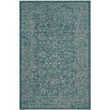 Safavieh Rugs Review Safavieh Courtyard Turquoise 6 Ft 7 In X 9 Ft 6 In Indoor