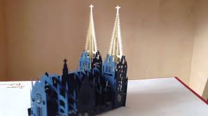 Free Kirigami Card Templates 3d Notre Dame Cathedral Kirigami Pop Up Card Paper Art