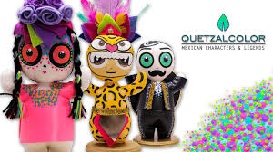 quetzalcolor art toys of mexican characters u0026 legends by yess