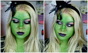 wicked witch makeup classic green witch halloween makeup 2015