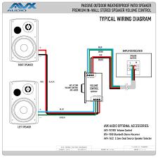 outdoor speaker volume control wiring diagram diagram wiring