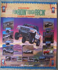 Vintage Ford Truck Advertisements - rough riders off road racing team 1991 1995 blue oval trucks