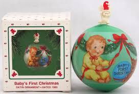 Hallmark 1985 Baby U0027s First Christmas Ornament Baby Keepsake