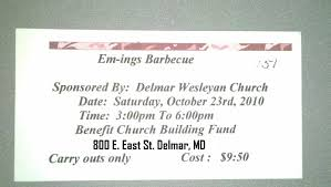 bbq tickets template bbq plate ticket template