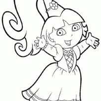 funny dora explorer coloring pages cartoon birthday
