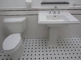 Hexagon Tile Bathroom Floor by Bathroom White Subway Tile Bathroom 16