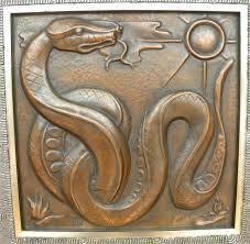 deco plaque metal 1930s belgian art deco copper wall plaque quintet u2022 maredsous