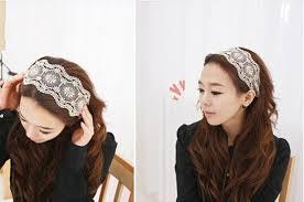 elastic hair band hairstyles women fashion fabric lace wide stretch headband headwrap elastic