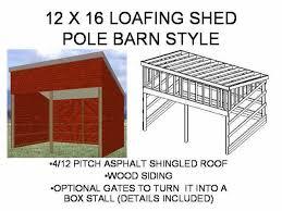 The G442 50x30x12 Garage Plans Free House Plan Reviews by 12 U2032 X 16 U2032 Loafing Shed Barn Free House Plan Reviews