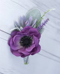succulent boutonniere touch anemone poppy succulent boutonniere in any color