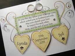 wedding vow cards handmade personalised wedding renewal of vows card ebay
