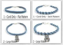 diabetes ribbon color type 1 diabetes awareness bracelet macrame custom juvenile
