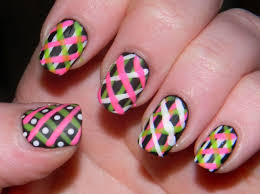 simple line nail designs for beginners to do at home line design
