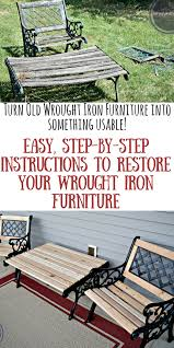 Refinishing Wrought Iron Patio Furniture by How To Archives Be Happy And Do Good