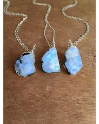 big crystal necklace images Score big early black friday savings on raw moonstone necklace