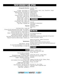 Cleaner Resume Template Architect Skills Resume
