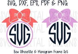 bow monogram bow monogram svg files circle bow svg digital design cutting