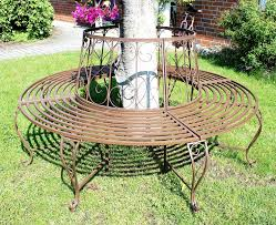round bench made of metal bench 120749 tree bench seat garden