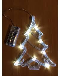 battery operated window lights perfectholiday led battery operated christmas tree window light