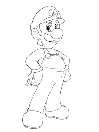 trend luigi coloring pages 90 for coloring pages for kids online