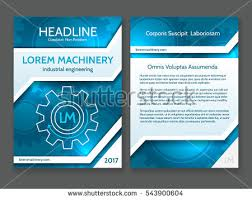 technical brochure template abstract technology brochure template modern digital stock vector