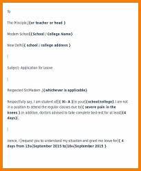 formal sick leave letter formal leave application letter 46