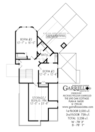 Cottage Plan by The Live Oak Cottage House Plans By Garrell Associates Inc
