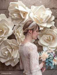 wedding backdrop paper flowers jumbo paper flower wedding backdrop lia griffith