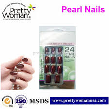 beautiful designed pearl color nail art products artificial nails