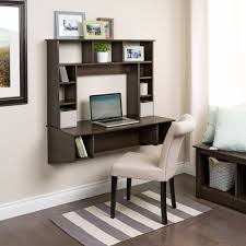 wall mounted furniture furniture grey floating computer desk hanging on grey painted