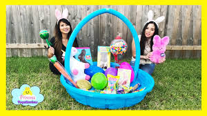 filled easter baskets easter basket filled with warheads sour candy gummy