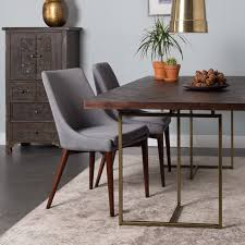 class wood and brass dining table furniture beut co uk