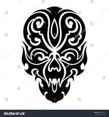 skull tribal tattoo vector illustration stock vector 340283243