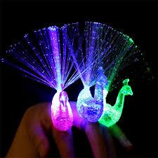 led light up rings 5 pc led peacock finger light colorful led light up rings party